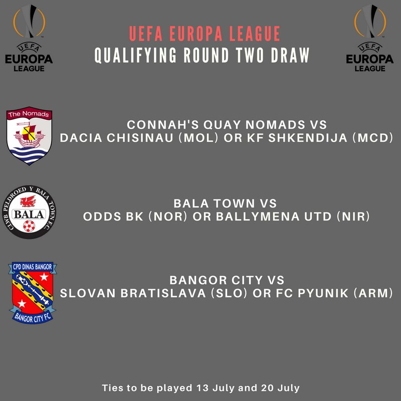 BREAKING: Here are the teams Bangor, Bala and Connah&#39;s Quay could play in the 2nd round of the #UEL should they progress in the 1st round. <br>http://pic.twitter.com/fMFiHGeODG