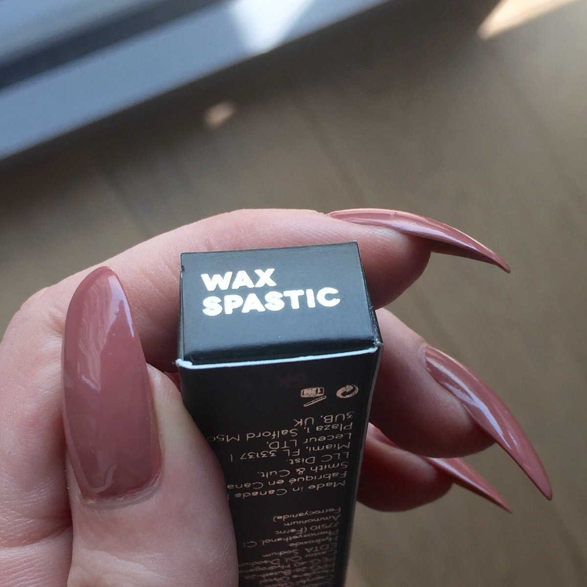 How many people saw and approved the name 'Wax Spastic' for your new eyeliner, @SmithandCult? Genuinely stunned