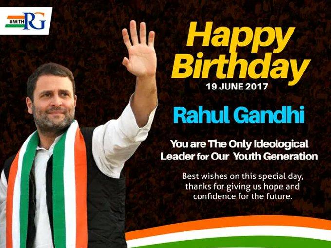 Happy birthday to you  Rahul  gandhi