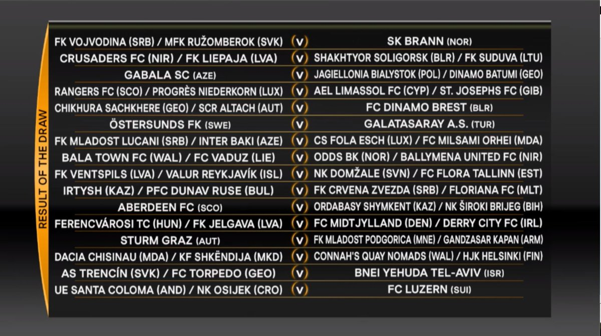 Result of the 2017/18 #UEL SECOND qualifying round draw.   Part Two...  #UELdraw <br>http://pic.twitter.com/Yd51oOiQux