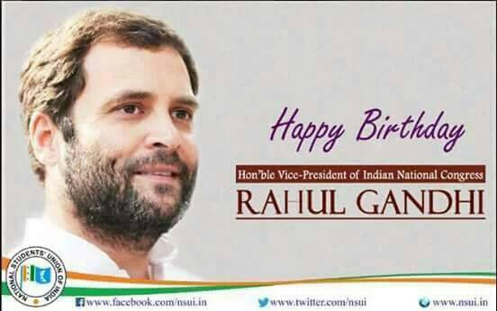 Happy Birthday Rahul gandhi ji