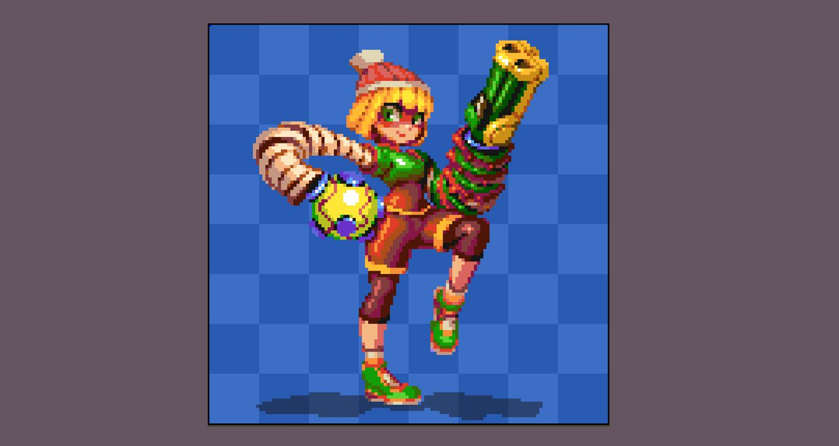 Min Min from #Arms. Love these character designs! #aseprite #pixelart #pixel_dailies #NintendoSwitch<br>http://pic.twitter.com/qIiSKvvKQx