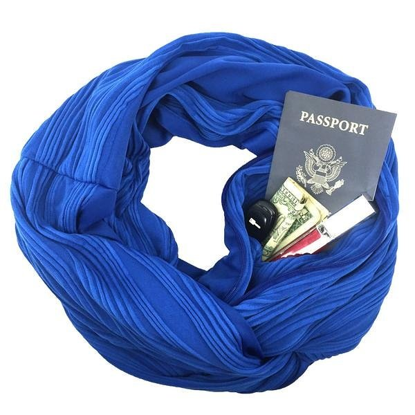 SHOLDIT Infinity Scarf with Pocket for Travel, Outdoors, Moms & More
