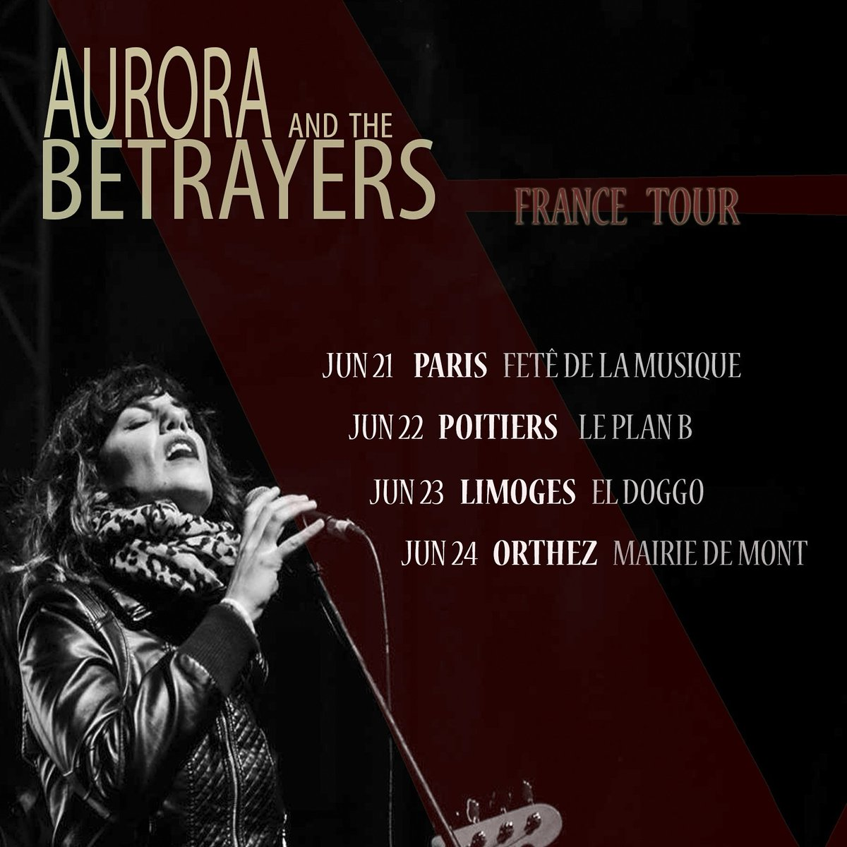 #FRANCE #Tour!!! This week @AuroraBetrayers  in France for the first time.  INFO:  http://www. auroraandthebetrayers.com  &nbsp;  <br>http://pic.twitter.com/rvaieaVEo4