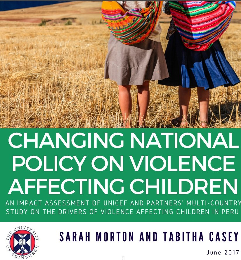 Gust blog: a case study on changing national policy on violence against children in Peru #researchimpact  http://www. younglives.org.uk/content/guest- blog-research-intervention-case-study-violence-against-children-peru &nbsp; … <br>http://pic.twitter.com/8xwH6JRNHq