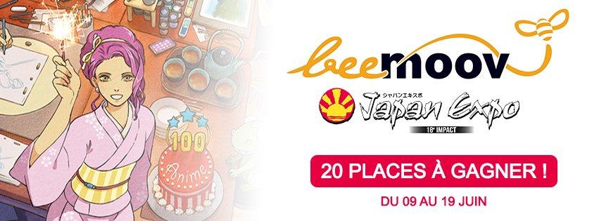 Dernier jour pour gagner son billet d'entrée pour la #japanexpo => https://goo.gl/YgLJxY #jeu #concours #beemoov 😀