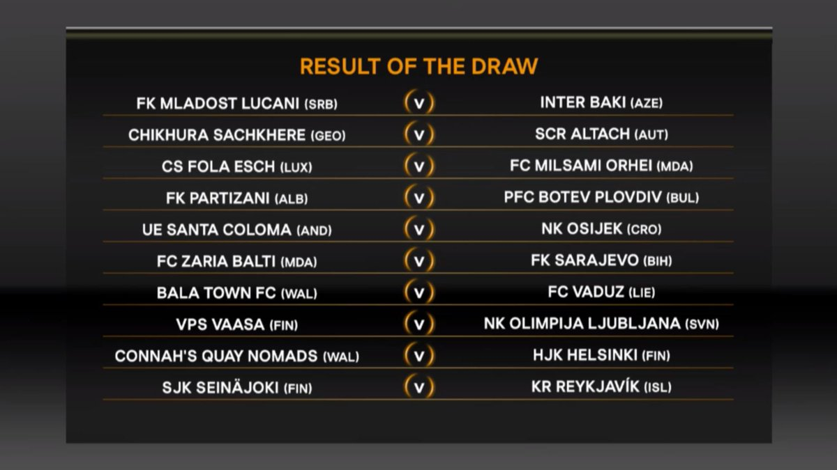 The second set of first qualifying round draw fixtures are confirmed.....