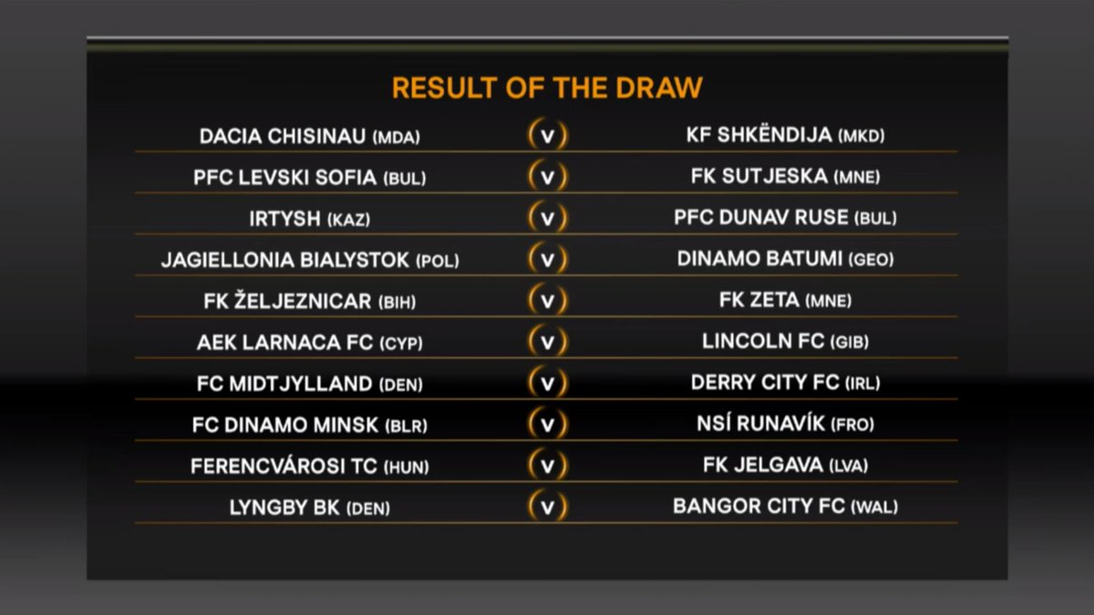 The fourth set of #UEL first qualifying round draw fixtures are confir...