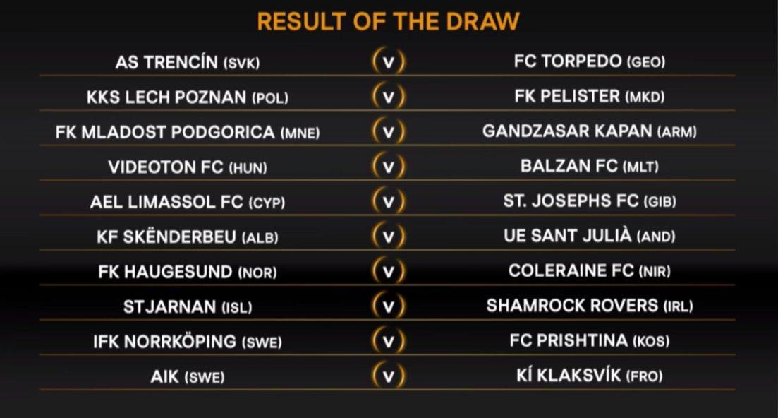 Shamrock Rovers have drawn St Jarnan. #UELdraw #LOIinEurope<br>http://pic.twitter.com/fqarEwDdeh