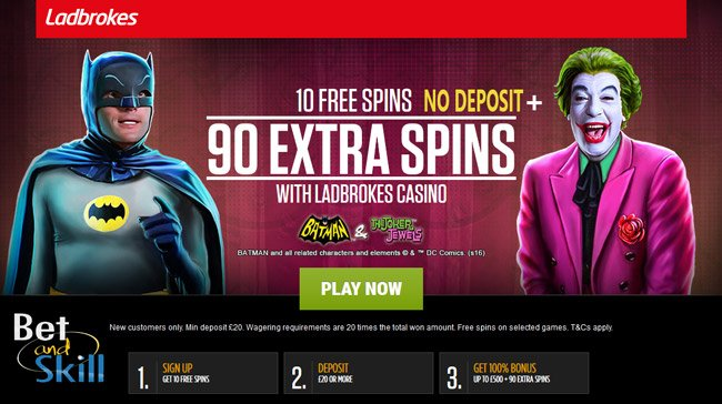10 no deposit free spins at Ladbrokes