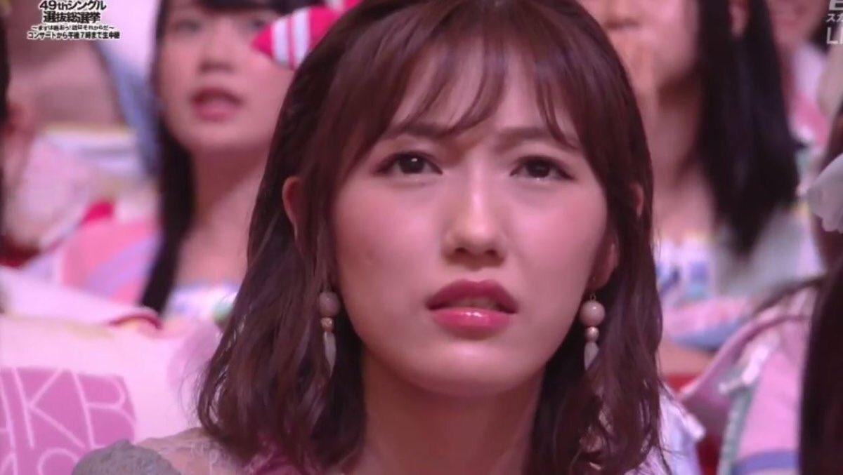 須藤凛々花の結婚発表を受けてひきつった表情の渡辺麻友の画像