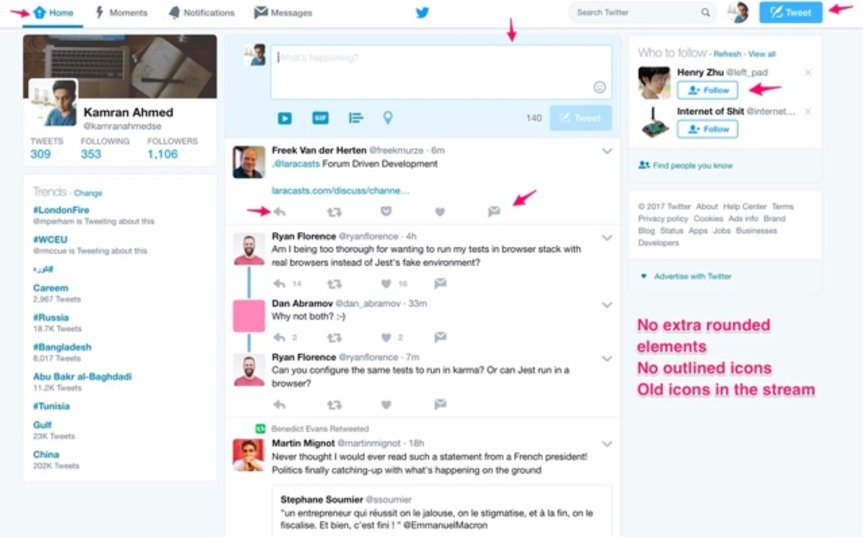 Twitterを古いデザインに戻せる拡張機能「Twitter - Old design」 https://t.co/Y2oYLJUKLY https://t.co/rE8IKRrRxb