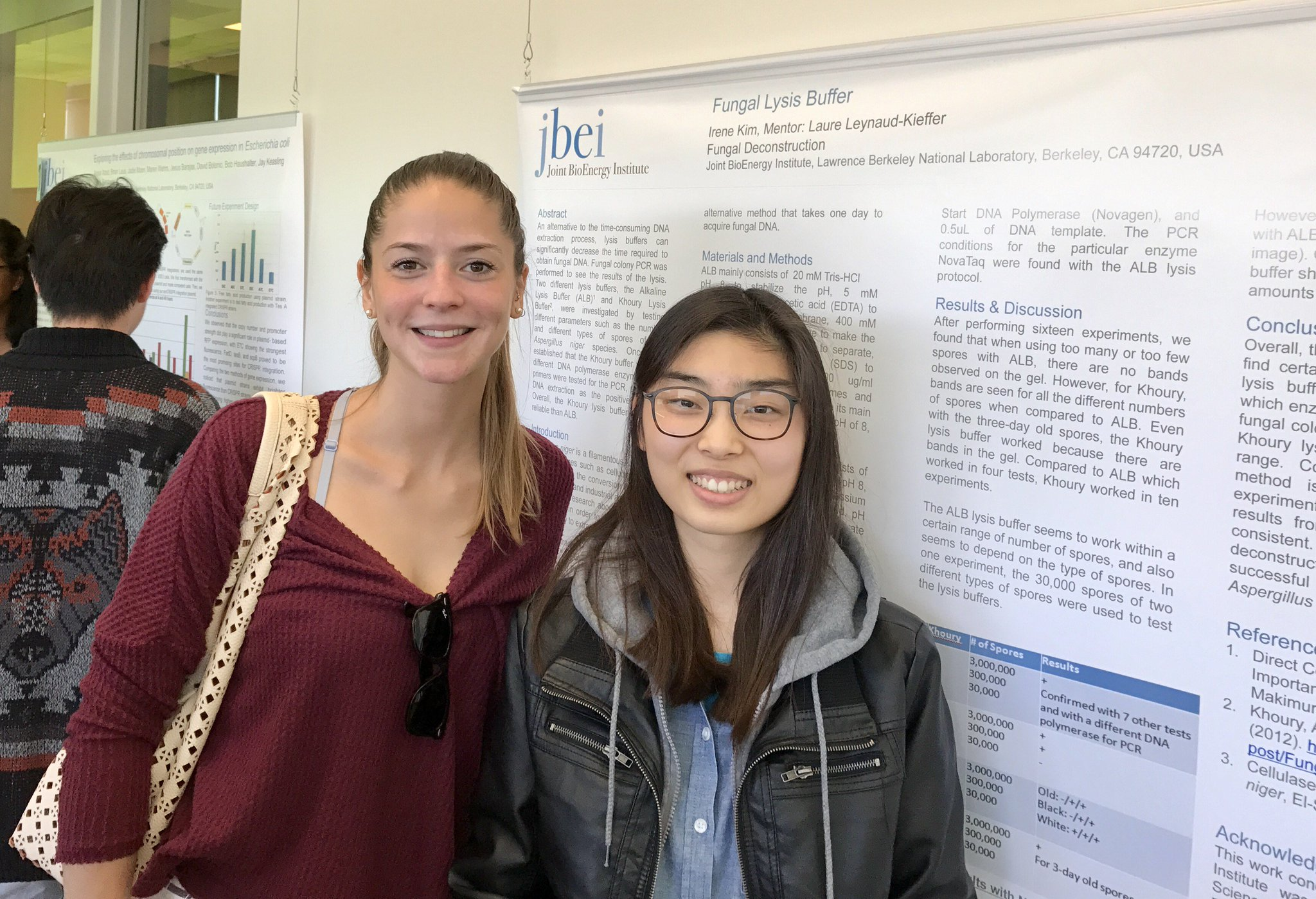 Proud mentor Laure Leynaud-Kieffer w/ @UCBerkeley undergrad Irene Kim intern @JBEI_ Decon Div #BioBSE #BioSciNextGen https://t.co/GFwAJkU4lE https://t.co/LfGk1uoi2I