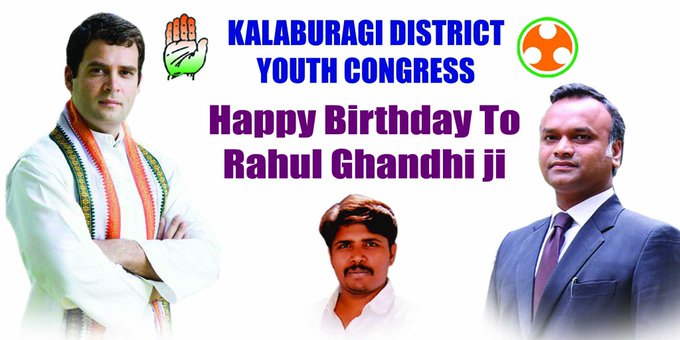 Happy birthday to our beloved leader RAHUL GANDHI ji