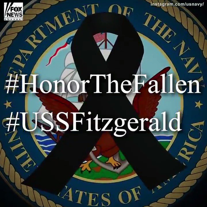 We remember the @USNavy sailors who died aboard the USS Fitzgerald. https://t.co/VxrUsGmEw5