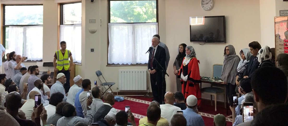 .@EmilyThornberry, @DavidLammy and I spoke with Finsbury Park Mosque's congregation about how we'll get through this difficult time together