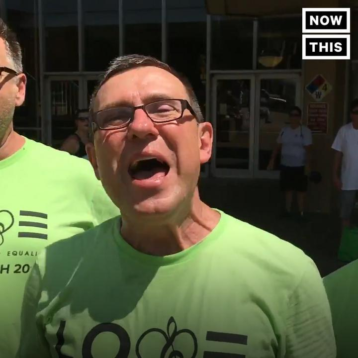 Anti-gay protesters crashed a Pride event — so this men's chorus drowned out their hate with song