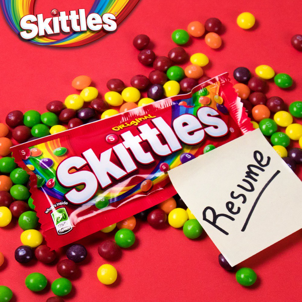 It comes with Skittles!...It's mainly Skittles...Ok it's a bag of Skit...