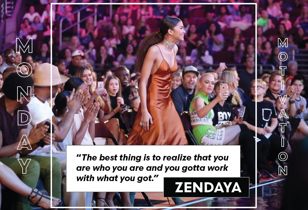 Work with what you got! #MondayMotivation with @Zendaya  #Inspiration...