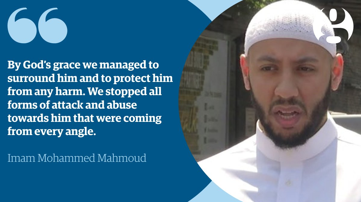 Imam Mohammed Mahmoud protected #FinsburyPark attacker from the crowd until police arrived https://t.co/KLsQA3r17j