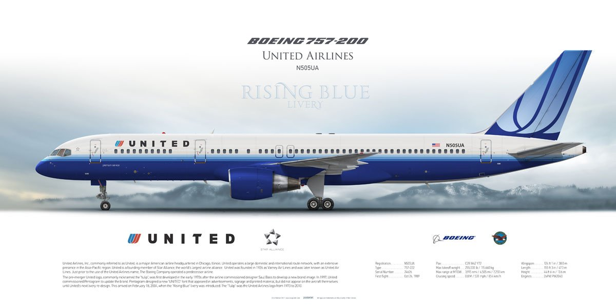 Posterjetavia On Twitter Quot Boeing 757 200 United Airlines