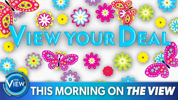 THIS MORNING ON @THEVIEW: A full day of #HotTopics — plus the hottest summer beauty and bling on #ViewYourDeal!