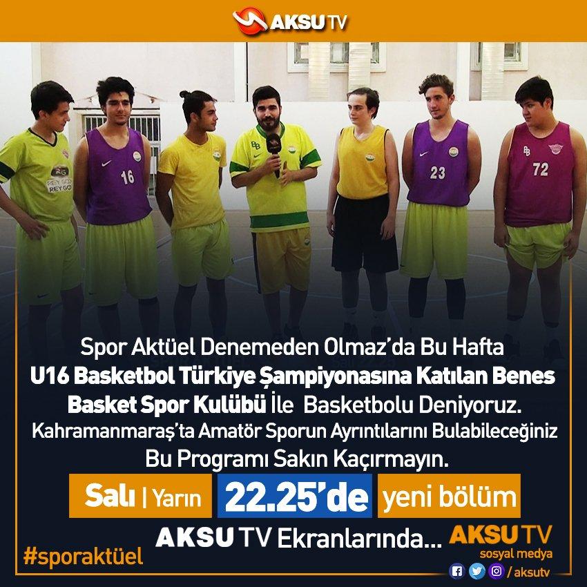#SporAktüel Salı(yarın) 22.25'de #AksuTV Ekranlarında... https://t.co/...