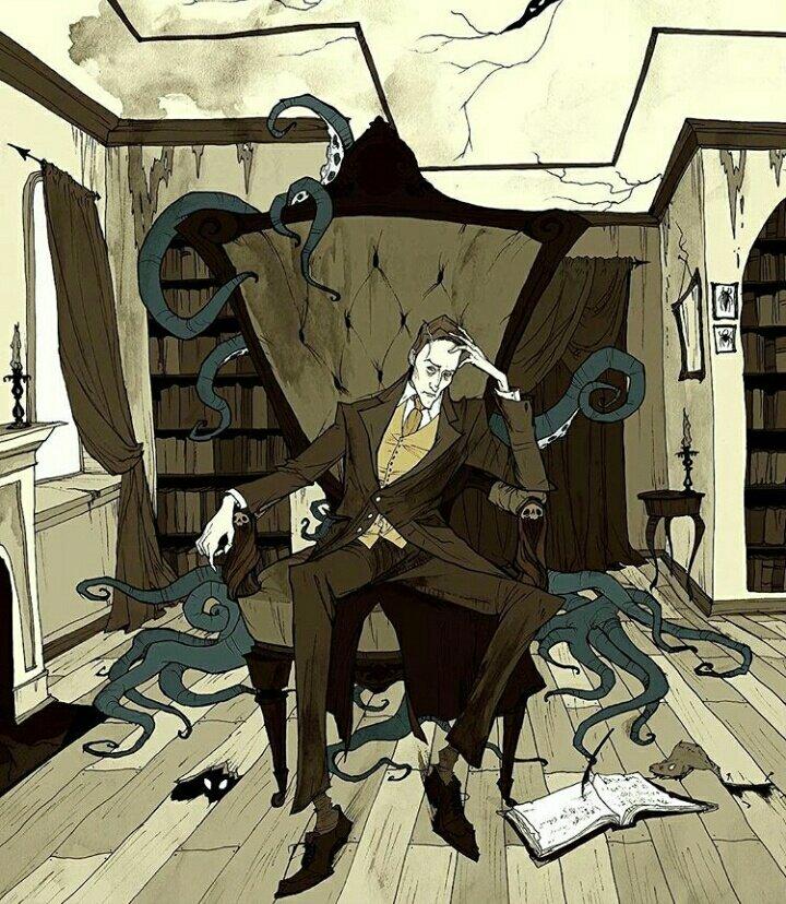 ホラーやダークファンタジーの世界を描くイラストレーター、アビゲイル・ラーソン。一枚目の蝙蝠を従える父…