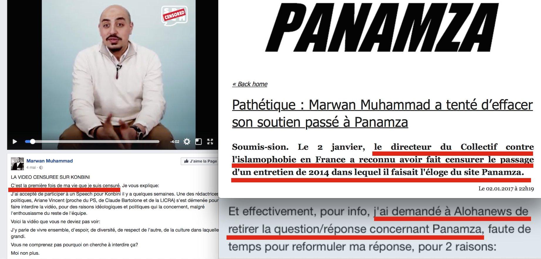 L'hypocrisie de Marwan Muhammad en une image