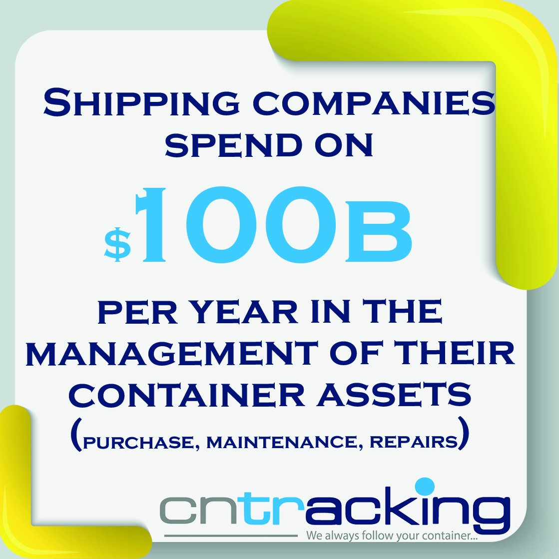 Did #you #know ?  #Shipping #companies spend on $110b per #year in the #management of their #container #assets<br>http://pic.twitter.com/SZmKY3n0TU
