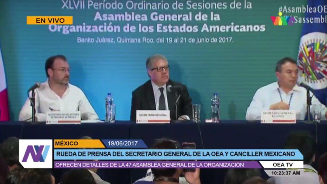 #AHORA│@Almagro_OEA2015: Urge que Venezuela recupere la institucionali...
