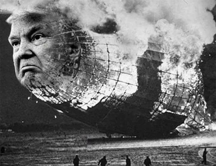The blimp is going down in flames. Bigly. Trust me. #mondaymotivation...