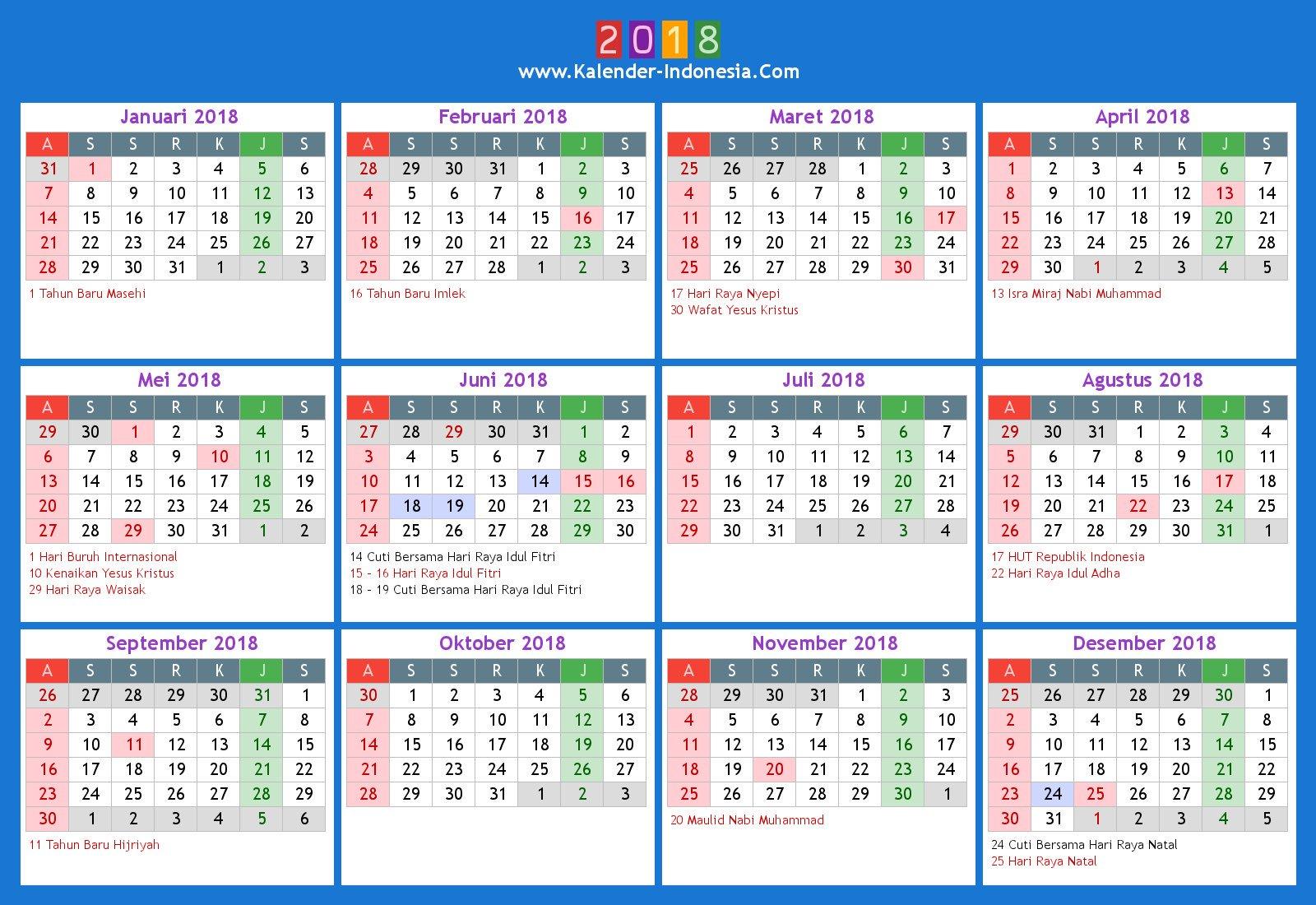 "KartuPos on Twitter: ""Kalender Indonesia 2018 lengkap ..."