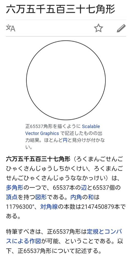 自分のことを真円だと思い込んでいる正多角形