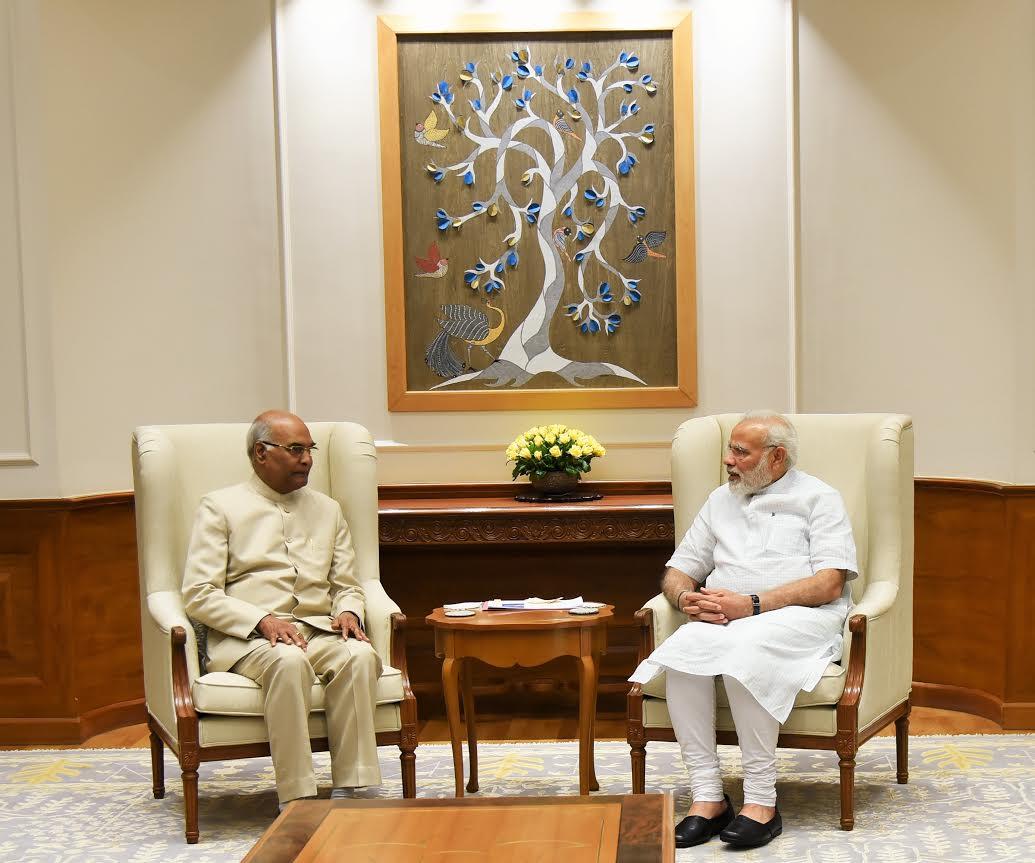 #NDA Presidential nominee & #Bihar Governor #RamNathKovind meets PM @narendramodi.