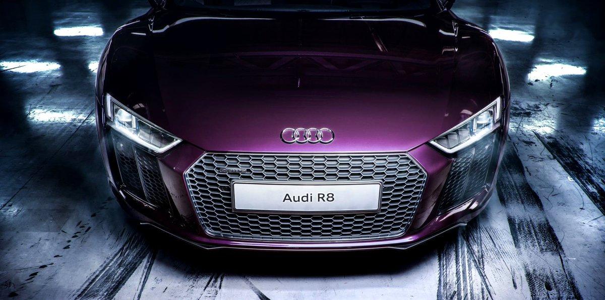 Dope purple. #AudiR8 #LeagueofPerformance via @AudiMiddleEast