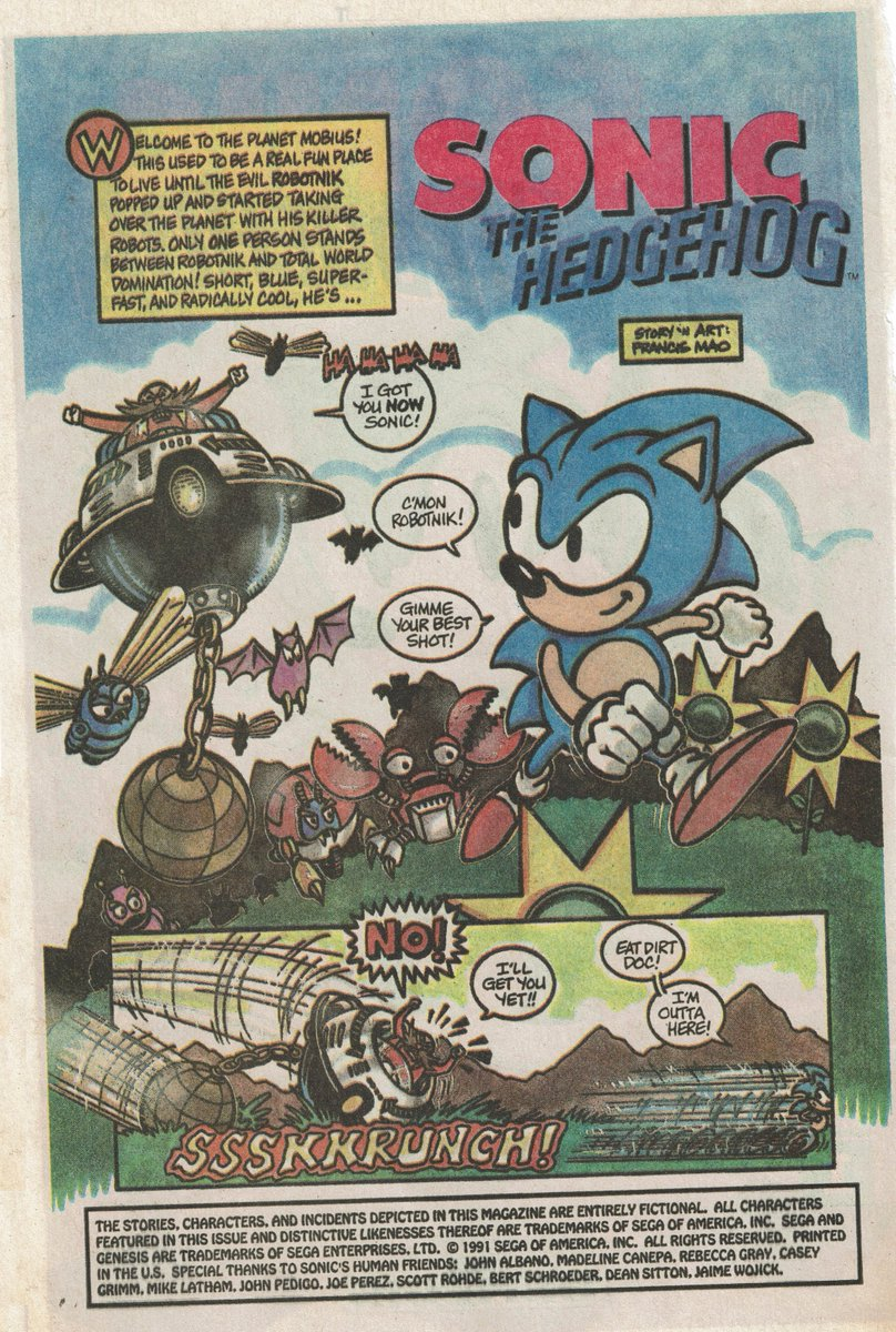 Videogameart Tidbits On Twitter Rarely Seen Promotional Sonic The Hedgehog Comic From 1991 Part 1 Of 4