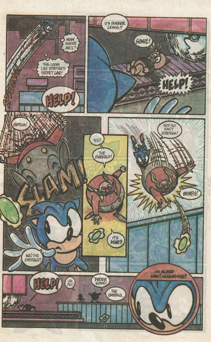 Videogameart Tidbits On Twitter Rarely Seen Promotional Sonic The Hedgehog Comic From 1991 Part 4 Of 4
