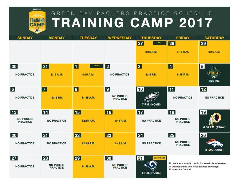 Stay 💯 percent up to date on the #PackersCamp schedule! Download 📅 here 👉 pckrs.com/c666