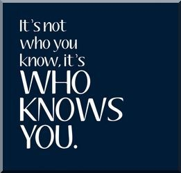 It&#39;s not who YOU know.  IT&#39;S WHO KNOWS YOU!  #businessnetworking #networktobuild #networkingisgiving #buildyourbusiness #networkwithus<br>http://pic.twitter.com/NqgWMrdZ3e