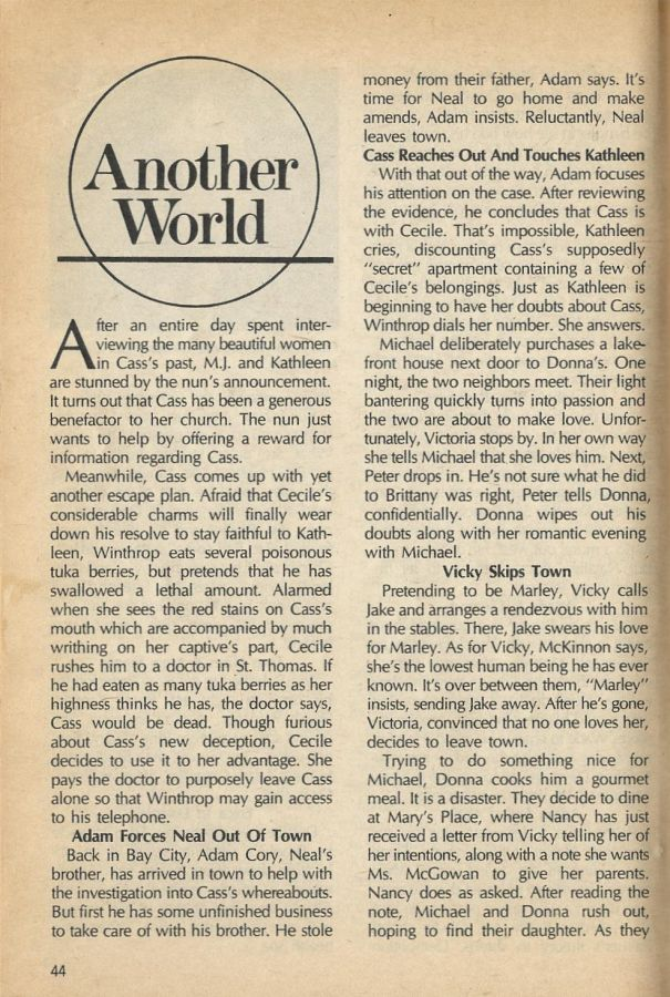 #AnotherWorld #AW  SOD Synopsis July 15, 1986  https:// classicsodaw.tumblr.com / &nbsp;  <br>http://pic.twitter.com/jPxbWVuwF4