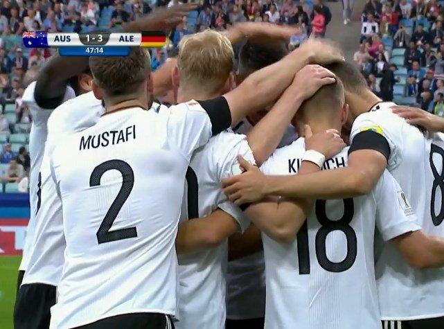 ¡Gol de Alemania! A los 2' ST, Goretzka puso el 3-1 ante Australia en...