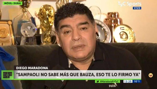 El Diego trató de inglés a Verón
