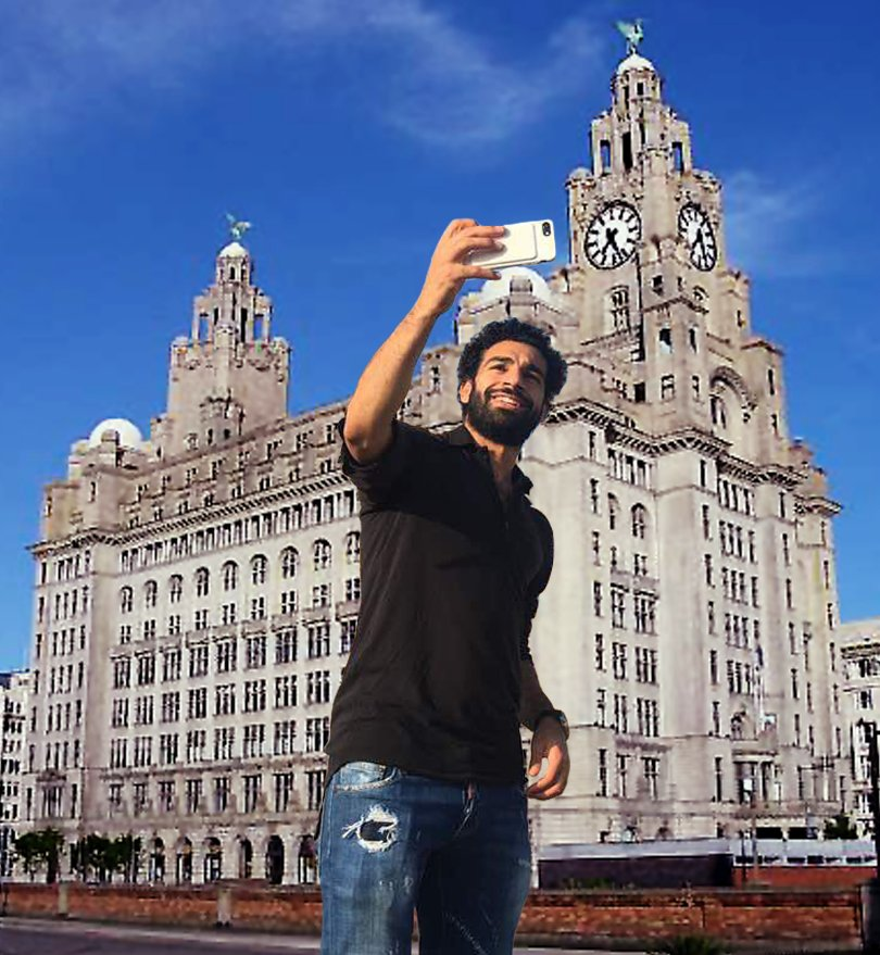 Mohamed Salah spotted in Liverpool today