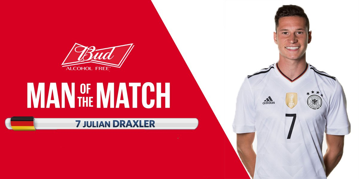 The #BUDMOTM is @DFB_Team's Julian Draxler! #AUSGER  Do you have a que...