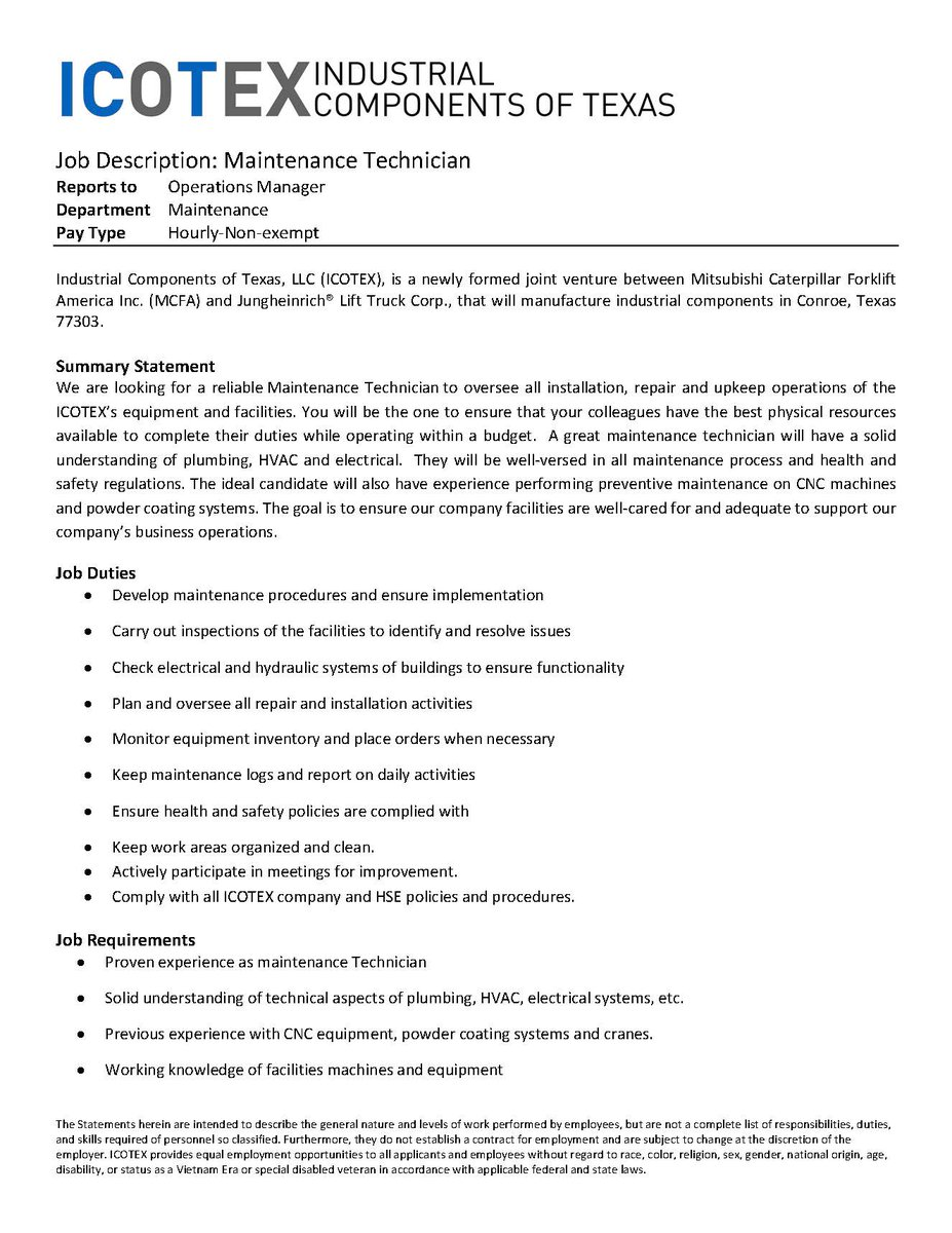 industrial maintenance technician resume cover letter Maintenance technician resume shift sample aircraft cv example cover letter resumes industrial examples apartment templates objective facilities | thomasbosscher.