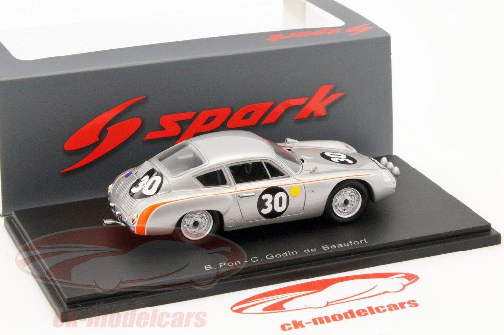 PORSCHE 695 Gs-Le Mans 1962-B Pon-Godin de Beaufort-Spark 1:43 s1878
