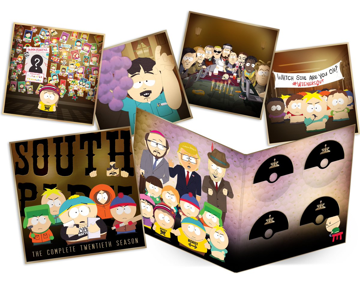 """The """"South Park: Season 20"""" DVD and Blu-Ray are now available!  Grab t..."""