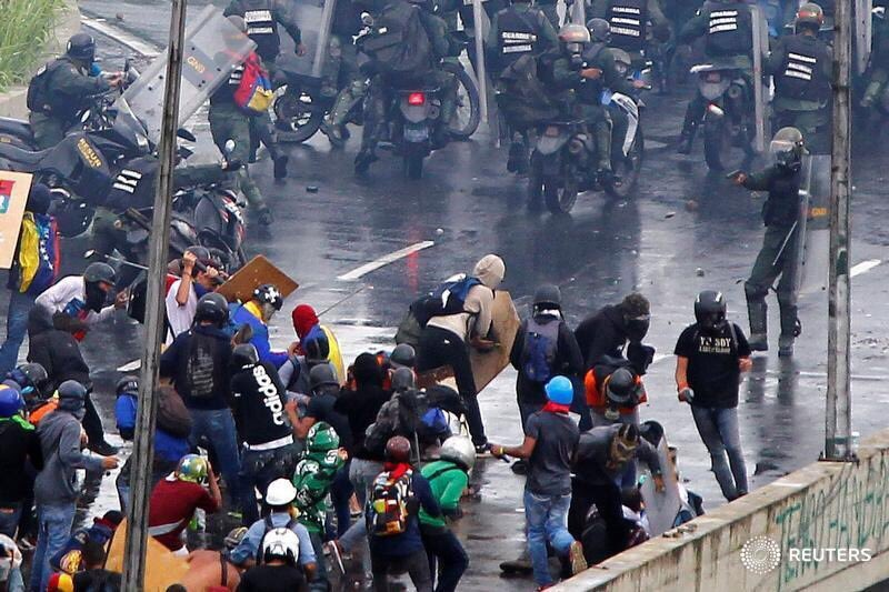 Reuters image from Altamira interchange in Caracas