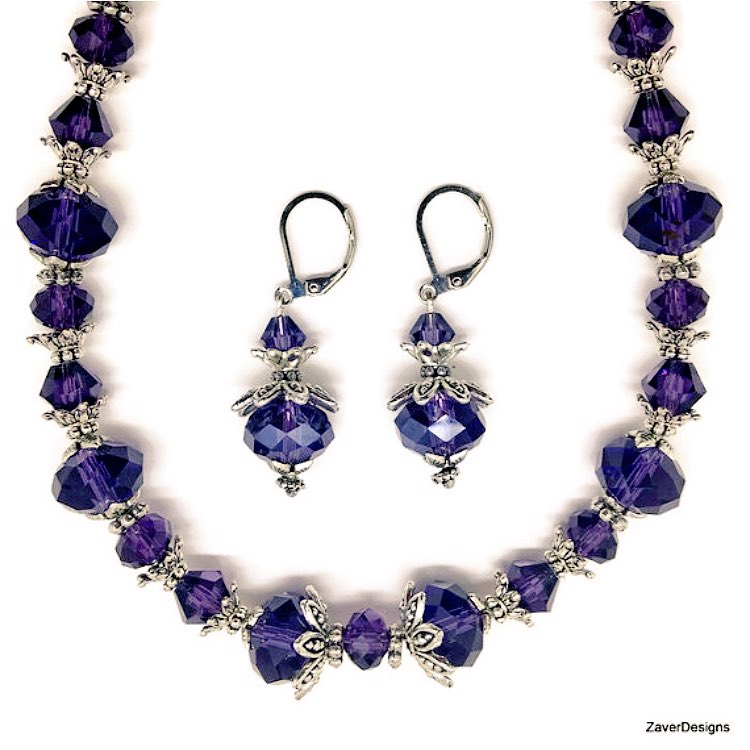 Purple crystal #necklace and #earrings #etsychaching #jewelrylovers #etsymntt #handmade #fashionstyle #OOAK #jewelry  https://www. etsy.com/listing/ZaverD esigns/248470338 &nbsp; … <br>http://pic.twitter.com/qRiOpxMFCa